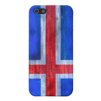 Iceland distressed Icelandic flag iPhone 5/5S Case