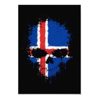 Iceland Dripping Splatter Skull Custom Invite