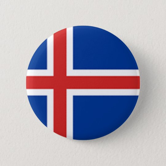 Iceland Flag 6 Cm Round Badge