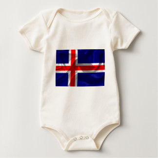 iceland-Flag Baby Bodysuit