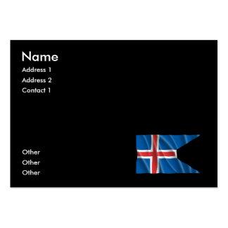 ICELAND FLAG BUSINESS CARD