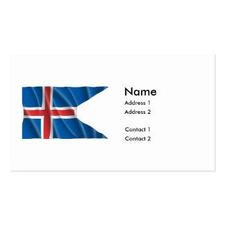 ICELAND FLAG PACK OF STANDARD BUSINESS CARDS