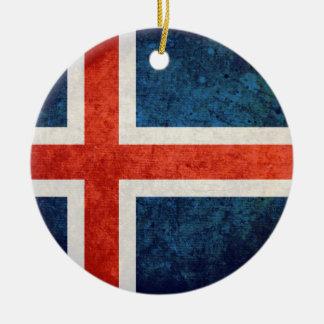 Iceland Flag Christmas Ornament