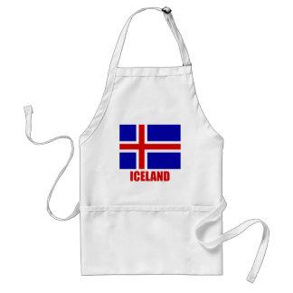 iceland_flag_iceland10x10 adult apron