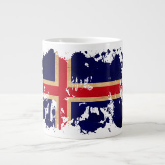 Iceland Flag Large Coffee Mug