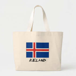 Iceland Flag Large Tote Bag