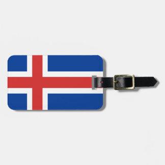 Iceland flag luggage tag