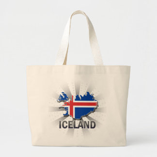 Iceland Flag Map 2.0 Large Tote Bag
