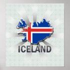 Iceland Flag Map 2.0 Poster
