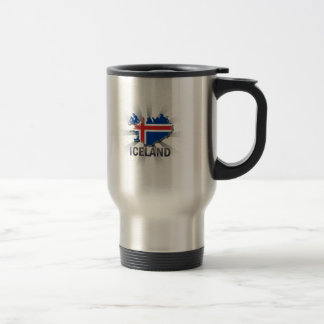 Iceland Flag Map 2.0 Travel Mug