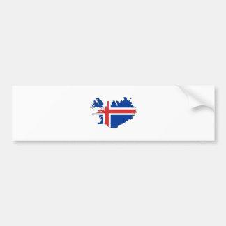 Iceland Flag Map full size Bumper Sticker