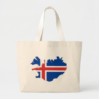 Iceland Flag Map Large Tote Bag