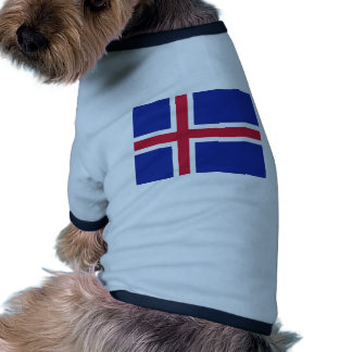Iceland flag pet t shirt