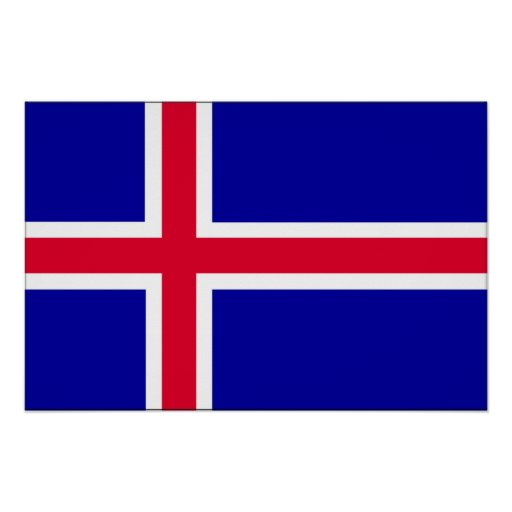 Iceland Flag Posters