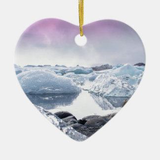 Iceland Glacier Lagoon Christmas Ornament