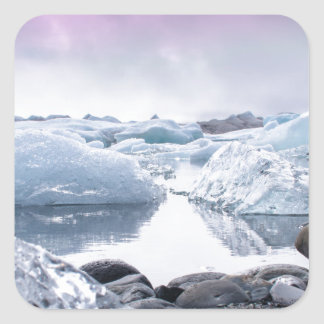 Iceland Glacier Lagoon Square Sticker