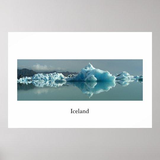 Iceland Glacier Lake Poster
