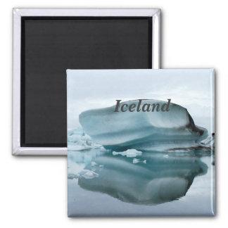 Iceland Glaciers Square Magnet