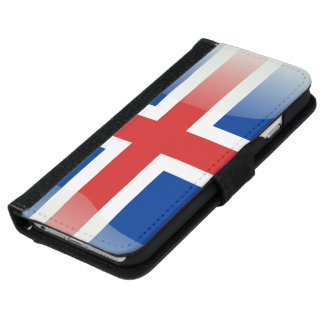 Iceland glossy flag iPhone 6 wallet case