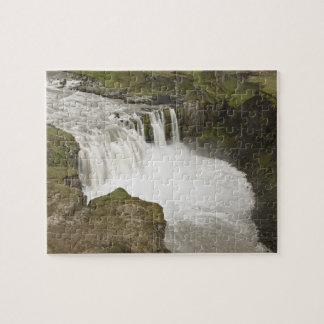 Iceland. Hafragilsfoss waterfall in Jigsaw Puzzle