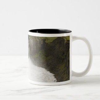 Iceland. Hafragilsfoss waterfall in Two-Tone Coffee Mug