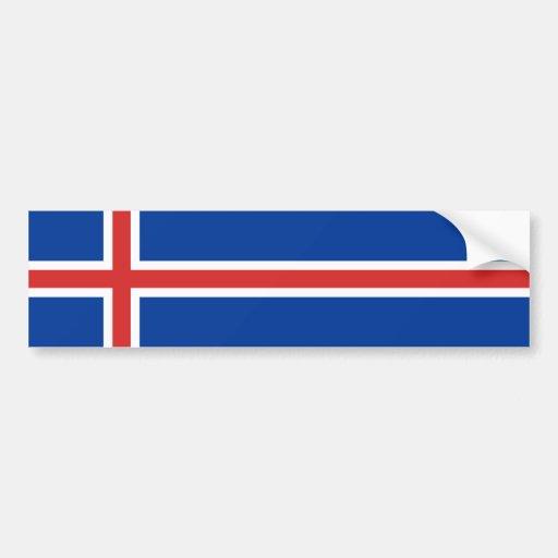 Iceland – Icelandic National Flag Bumper Stickers