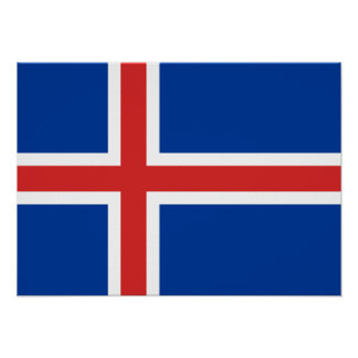 Iceland – Icelandic National Flag Posters