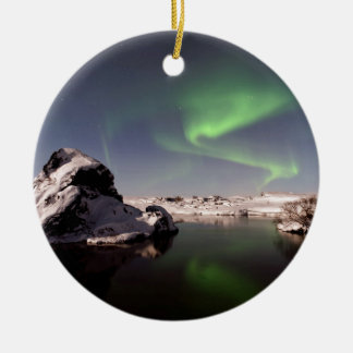 Iceland in Winter Christmas Ornament
