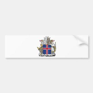 Iceland IS Ísland Coat of arms Bumper Sticker