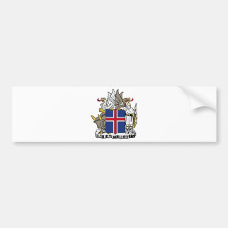 Iceland IS Ísland Coat of arms Bumper Stickers