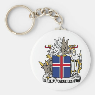 Iceland IS Ísland Coat of arms Key Ring