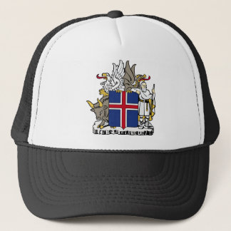 Iceland IS Ísland Coat of arms Trucker Hat