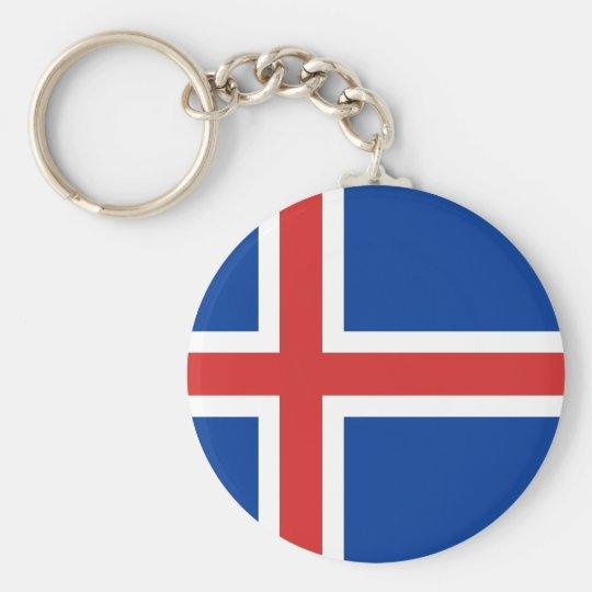 Iceland IS Ísland Flag Key Ring