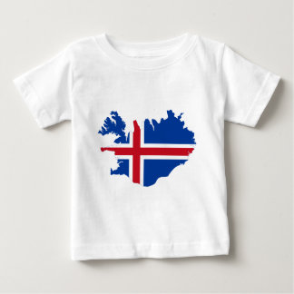 Iceland IS Ísland Flag map Baby T-Shirt