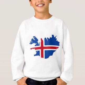Iceland IS Ísland Flag map Sweatshirt