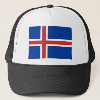 Iceland IS Ísland Flag Trucker Hat