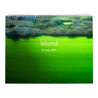 Iceland: Ís og Vatn (Ice and water) Calendar