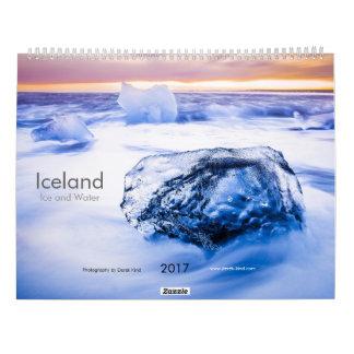 Iceland: Ís og Vatn (Ice and water) Wall Calendar