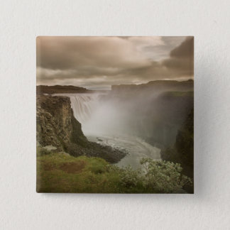 Iceland, Jokulsargljufur National Park. 15 Cm Square Badge
