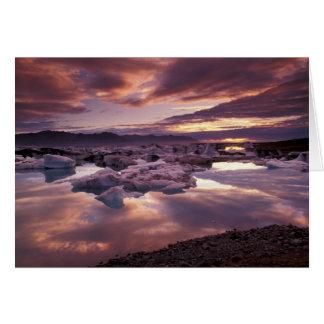 Iceland, Jokulsarlon Lagoon, Landscape Greeting Card