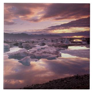 Iceland, Jokulsarlon Lagoon, Landscape Large Square Tile