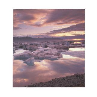 Iceland, Jokulsarlon Lagoon, Landscape Notepad