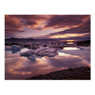 Iceland, Jokulsarlon Lagoon, Landscape Postcard