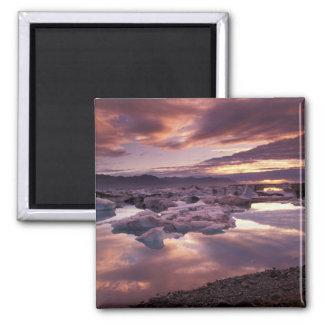 Iceland, Jokulsarlon Lagoon, Landscape Square Magnet