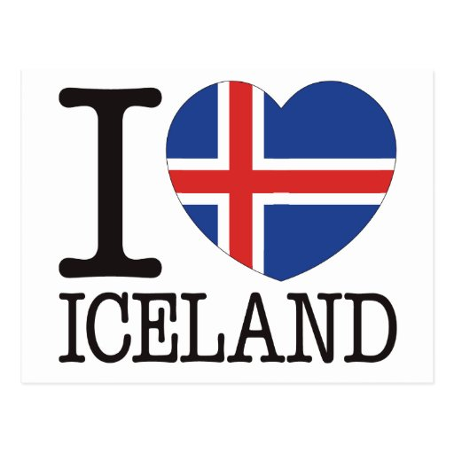 Iceland Love v2 Postcard