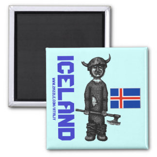 Iceland magnet with funny viking
