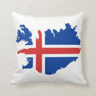 Iceland Map flag Cushion