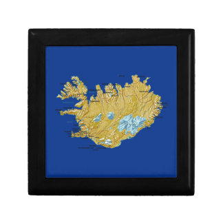 Iceland Map Gift Box