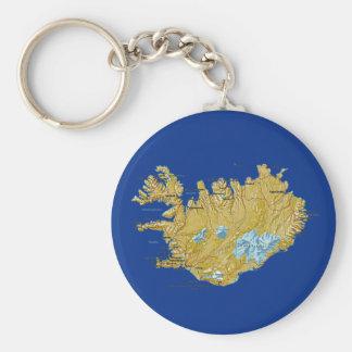 Iceland Map Keychain
