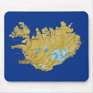 Iceland Map Mousepad
